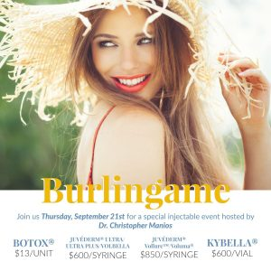 Burlingame September 21st Injectable Specials